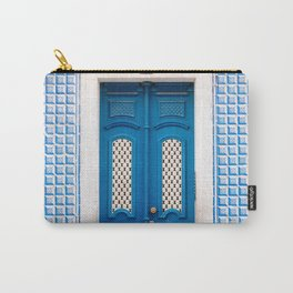The blue door of Lisbon | Portugal fine art travel photography print Carry-All Pouch