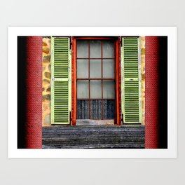 Window Shutters Art Print