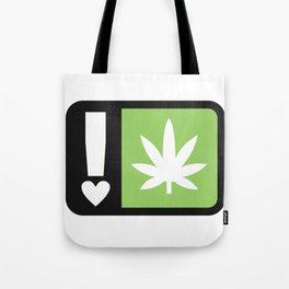 marijuana universal symbol of love Tote Bag