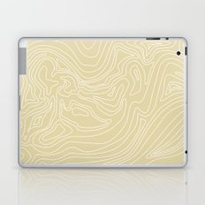 Ocean depth map - sand Laptop & iPad Skin