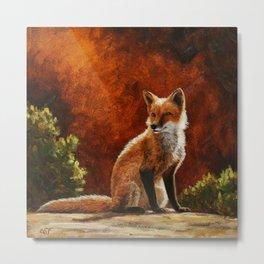 Red Fox in the Sun Metal Print