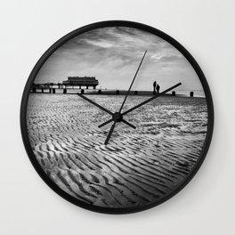 Couple on Cleethorpes Beach Wall Clock