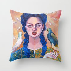 Libra, acrylic artwork Throw Pillow