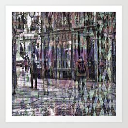 Care about senses above numbed action selfishness. Art Print