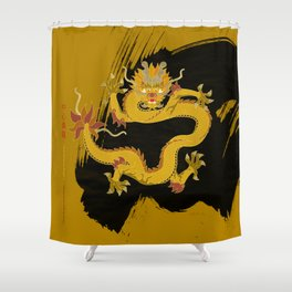 Yellow Dragon of the Center Shower Curtain