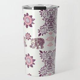 Boho Pink Elephants Travel Mug