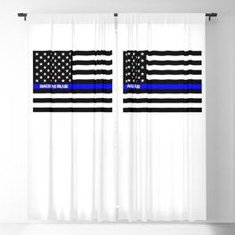 Back the Blue Thin Blue Line Blackout Curtain