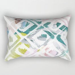 Awash | Colorful Geometric Print Rectangular Pillow