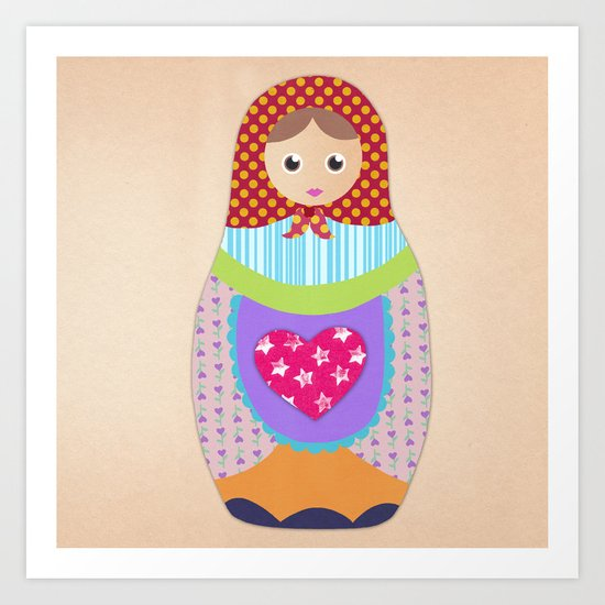 Love Russian doll Art Print