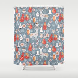 Folkart Shower Curtains