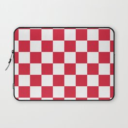 Red, Cherry: Checkered Pattern Laptop Sleeve