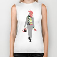rooster Biker Tanks featuring Rooster by Nathalie Otter