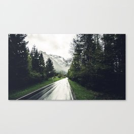 Down the Road - Mountains, Forest, Austria Canvas Print
