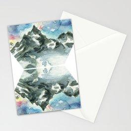 Geometric Mountain - Matterhorn Reflection Stationery Cards