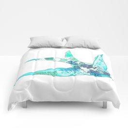 Light Blue Swallow Comforters