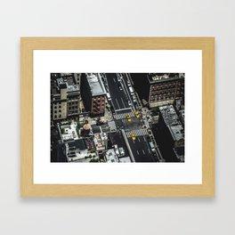 Little Yellow Cabs Framed Art Print
