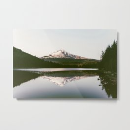 Mount Hood Reflection Metal Print
