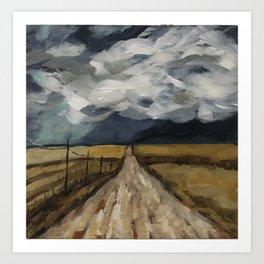 Down the Stormy Path Art Print