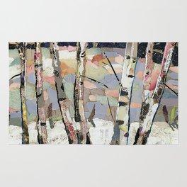 Birches in witnter Rug