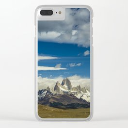 Fitz Roy in a summer day Clear iPhone Case