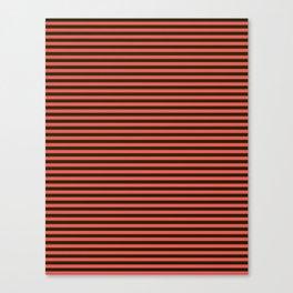 Striped, black, red Canvas Print