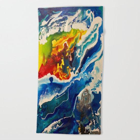 Deep Sea Rainbow Beach Towel