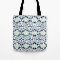 totem Tote Bags featuring totem by spinL