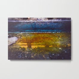 Color Dye and Water  - Two Metal Print