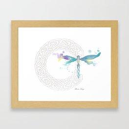 Celtic Knot Dragonfly Framed Art Print