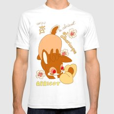 Jackalope and Apricot White SMALL Mens Fitted Tee