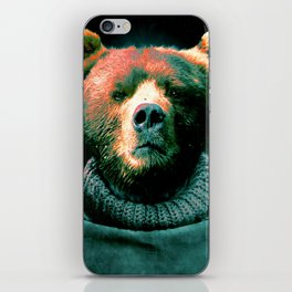 Working Bear iPhone Skin