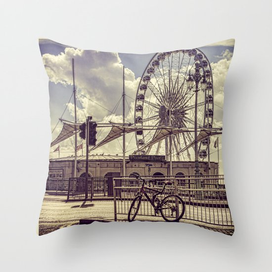 The Brighton Wheel Throw Pillow