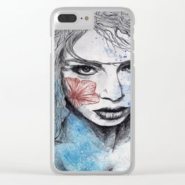 No Hope In Sight (tattoo girl with flowers) Clear iPhone Case