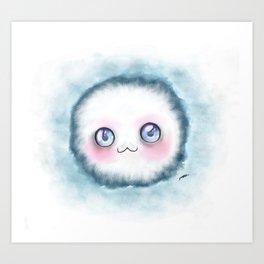 fluffy kawaii Art Print
