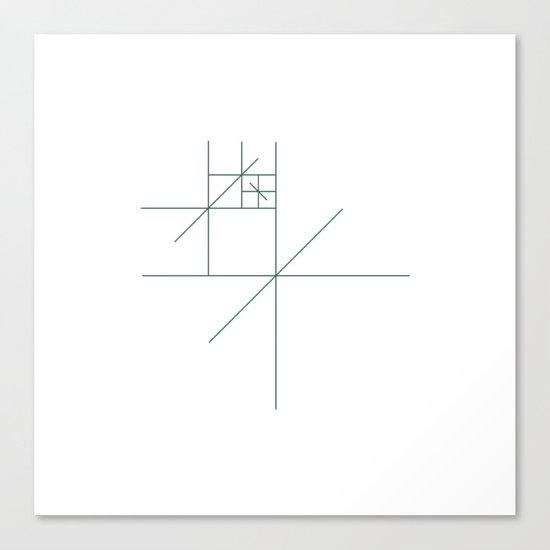 #321 Star gazer – Geometry Daily Canvas Print