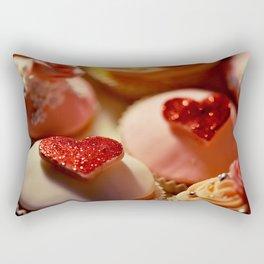 heart cupcakes Rectangular Pillow