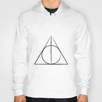 deathly hallows Hoodies featuring The Deathly Hallows by A. Design