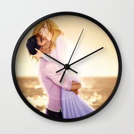 Feyre and Rhysand - A Romantic Sunset Wall Clock
