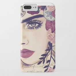 NATURE ITESLF BOHEMIAN WOMAN PAINTING iPhone Case