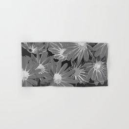 Gray Flowers Hand & Bath Towel