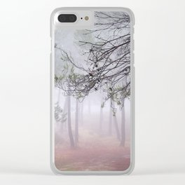 Dream Pine Forest. Living In A Dream... Clear iPhone Case