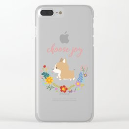 Choose joy Clear iPhone Case