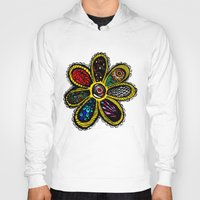 hippy Hoodies featuring Patchwork Hippy Flower by Silvio Ledbetter