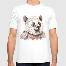 Panda MEDIUM White Mens Fitted Tee