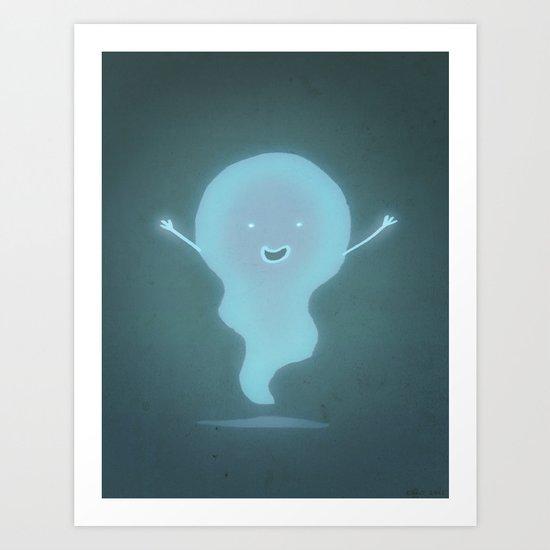 Happy Ghost Art Print