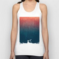 star Tank Tops featuring Meteor rain by Picomodi