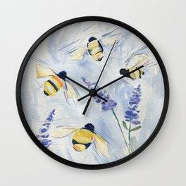 Summer Bees Wall Clock
