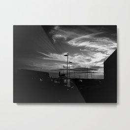 Sky BW Metal Print