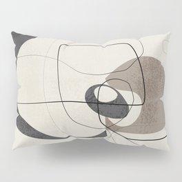 Minimalist Abstract Art Shapes - Scribbles Smokey Blue 2 Pillow Sham