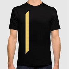 Tagged Gold no11 Mens Fitted Tee MEDIUM Black